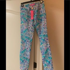 Lilly Pulitzer Skinny Crop jeans, size 0